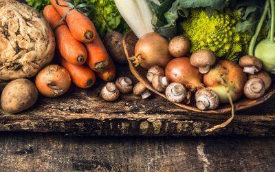 Frutta e verdura di stagione in ottobre
