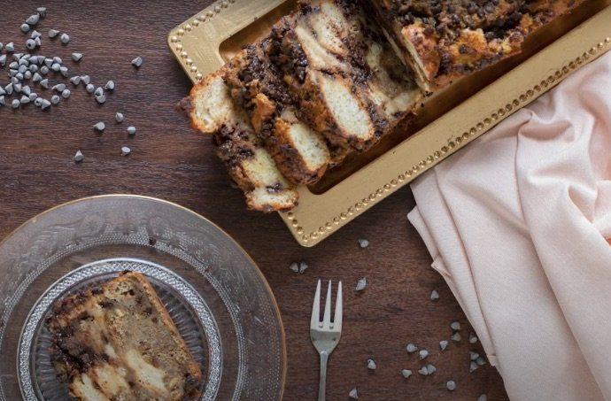 Il pudding di pane al cioccolato